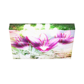 Flow Lily Canvas Print