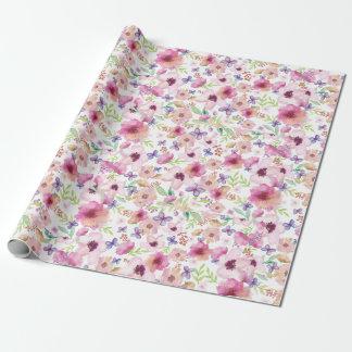 Flow - LONDON - Floral Matt Wrapping Paper
