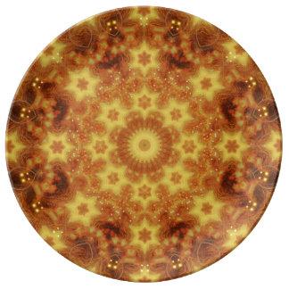 Flow of Creation Mandala Porcelain Plate