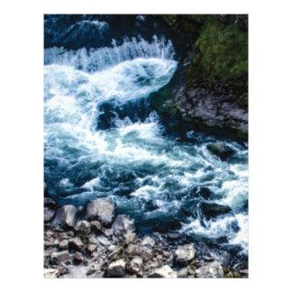 flow of the river white letterhead