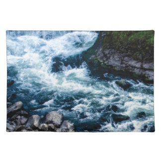 flow of the river white placemat