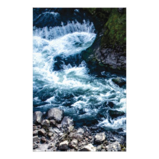 flow of the river white stationery
