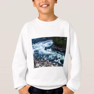 flow of the river white sweatshirt