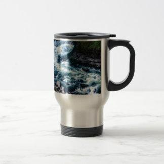 flow of the river white travel mug