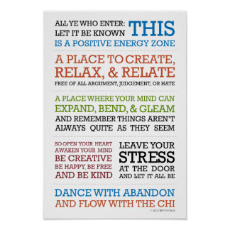 """""""Flow with the Chi"""" Manifesto Poster"""