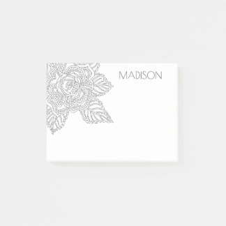 Flower 020617 Adult Colouring Home Or Office Rose Post-it® Notes