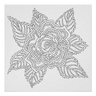 Flower 020617 Adult Colouring Rose Colour This Fun Poster