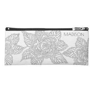 Flower 020617 Adult Colouring School Office Rose Pencil Case