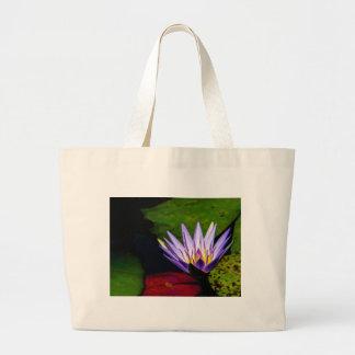 Flower 066 Waterlily Digital Art Large Tote Bag