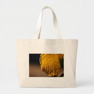 Flower 067 Water drops - Digital Art Large Tote Bag