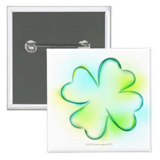 Flower 2 Inch Square Button
