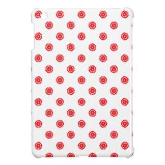 Flower 4 Pattern Red iPad Mini Cover