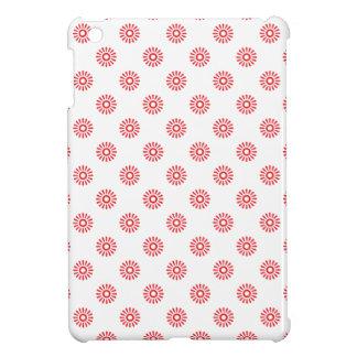 Flower 6 Pattern Red iPad Mini Cases