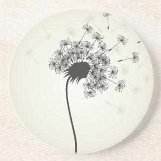 Flower a dandelion drink coaster