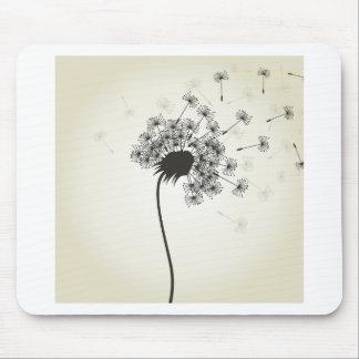 Flower a dandelion mouse pad
