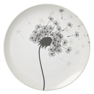 Flower a dandelion plate