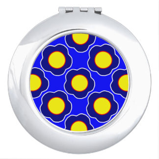 Flower Abstract Art Compact Mirror