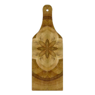 flower abstract circle wood pattern cutting board
