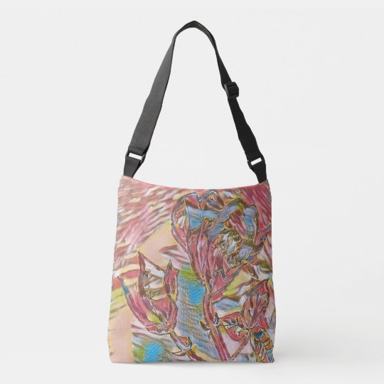 Flower Abstract. Crossbody Bag