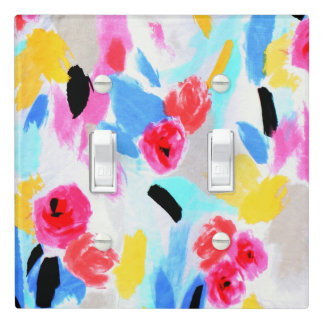 Flower Abstract Light Switch Cover