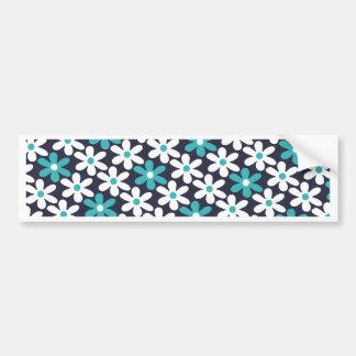 flower abstract pattern bumper sticker