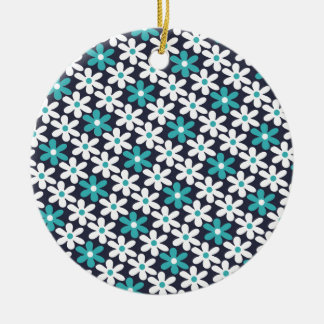 flower abstract pattern ceramic ornament