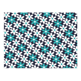 flower abstract pattern postcard