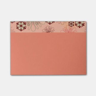 Flower Adornments Peach Color Post-it® Notes