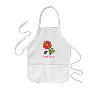 Flower and Bee Paint Smock! Kids Apron