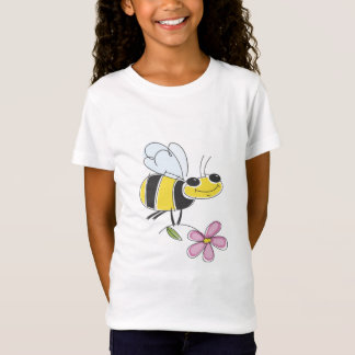 Flower and Bee Tee for Kids