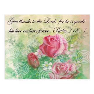 "Flower and Bible verse ""Rose"" Postcard"