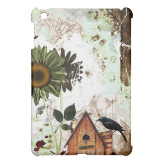 flower and birdhouse  IPAD case