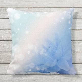 Flower and Bokeh Outdoor Pillow