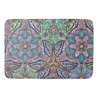 Flower and Butterfly Bathmat