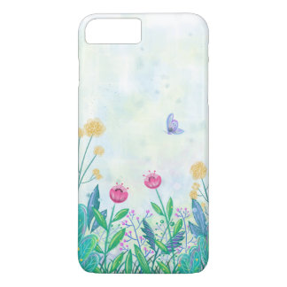 flower and butterfly watercolour iPhone7 plus case