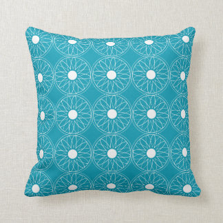 Flower and circles Patterned Pillow
