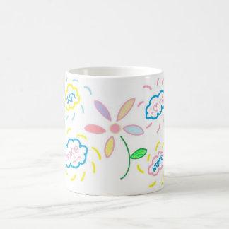 Flower and Clouds Coffee Mug