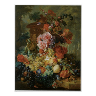 Flower and Fruit Piece, 1722 Poster