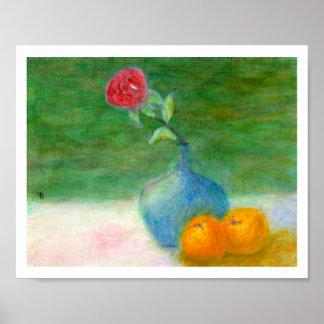 Flower and Fruit Still Life, Poster
