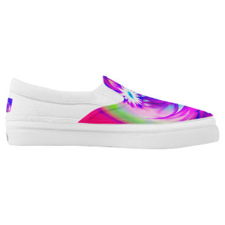 Flower and Fucsia♥ Slip-On Sneakers