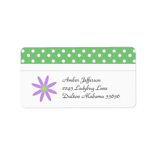 Flower and Polka Dot Address Labels