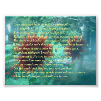 Flower and Sonnet Poster
