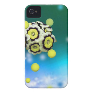 Flower and tennis balls flying on air. Case-Mate iPhone 4 case