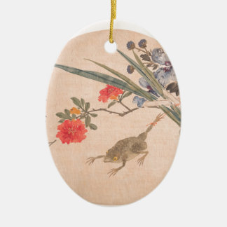 Flower and Toad - Zhang Xiong (Chinese, 1803–1886) Ceramic Ornament
