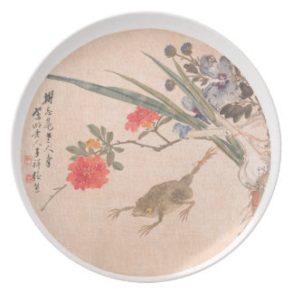 Flower and Toad - Zhang Xiong (Chinese, 1803–1886) Dinner Plate