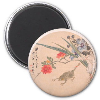 Flower and Toad - Zhang Xiong (Chinese, 1803–1886) Magnet
