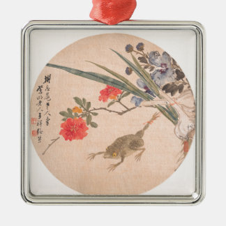 Flower and Toad - Zhang Xiong (Chinese, 1803–1886) Metal Ornament
