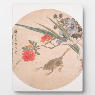 Flower and Toad - Zhang Xiong (Chinese, 1803–1886) Plaque