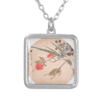 Flower and Toad - Zhang Xiong (Chinese, 1803–1886) Silver Plated Necklace
