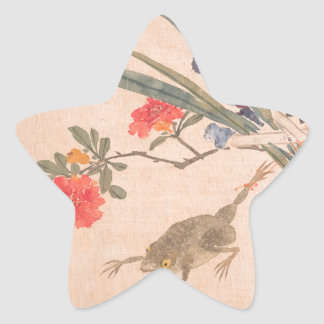 Flower and Toad - Zhang Xiong (Chinese, 1803–1886) Star Sticker